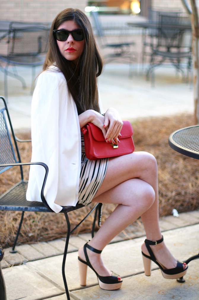armani exchange, seah wrap element bracelet, zara sandals, red celine bag, fashion