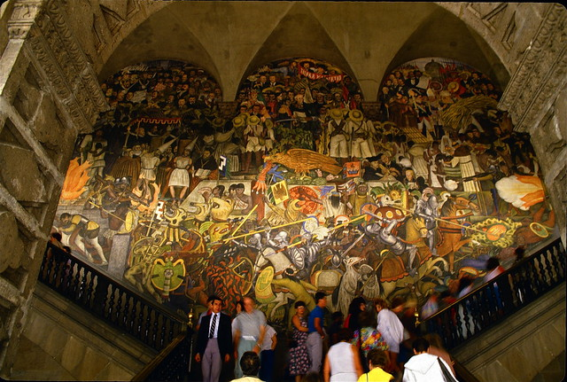 diego rivera mural national palace mexico city 1987 flickr photo