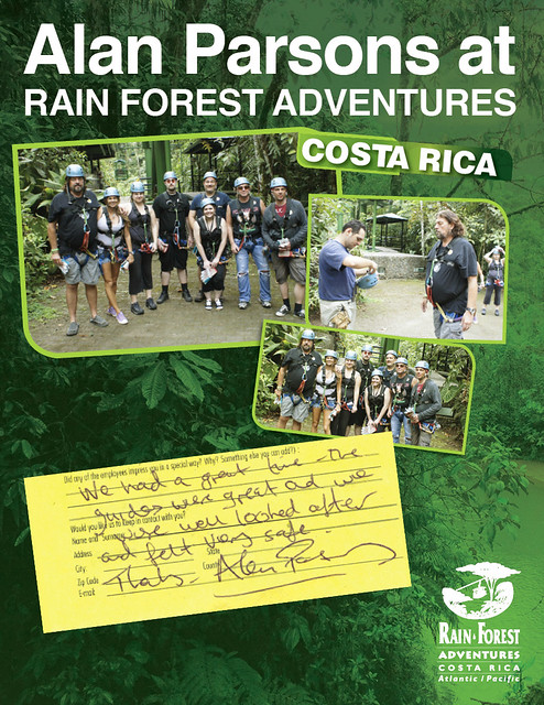 Alan Parsons at Rainforest Adventures in Costa Rica