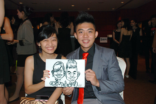Caricature live sketching for Serangoon Junior College Prom Night - 2