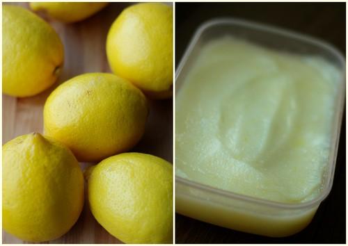 sidrunisorbett/lemon sorbet