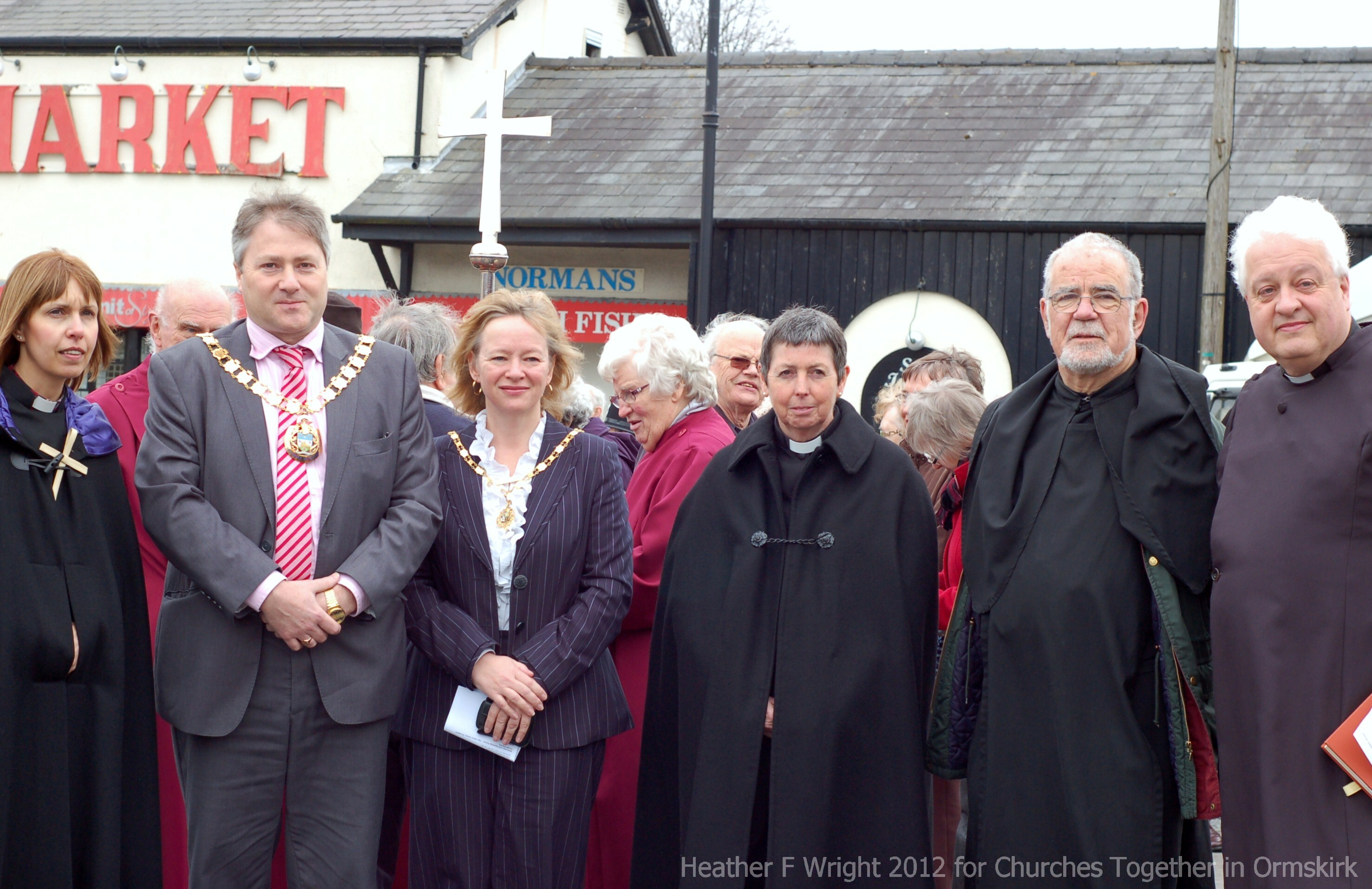 West Lancs Mayor & Mayoress with Ormskirk Clergy Good Friday 2012