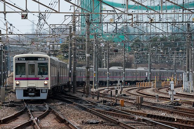 京王電鉄7000系 7029F 出場試運転