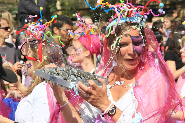 Colourful costumes at the Aix-en-Provence Carnaval, France
