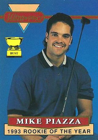 Baseball Card Bust Mike Piazza 1994 Rembrandt Ultra Pro