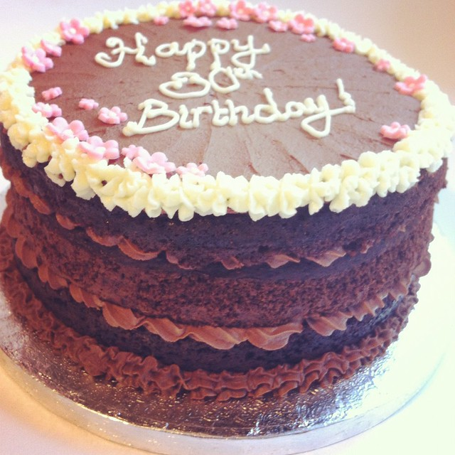 Vegan Chocolate birthday cake  Flickr - Photo Sharing!