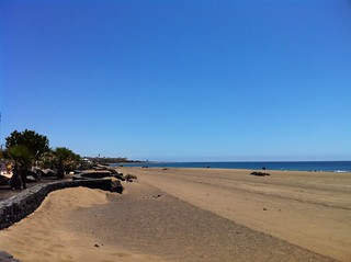 Immagine di Playa de los Pocillos. sky sun holiday weather clouds view lanzarote iphoneography