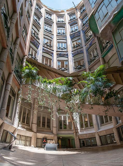 la pedrera casa mila courtyardCasa Mila Courtyard