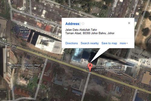 Banafee Village Johor Baharu Map