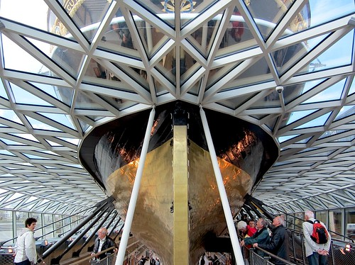 The Cutty Sark's extraordinary hull