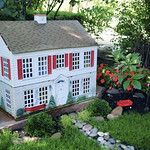 dollhouse in the garden