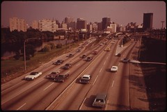 Schuykill Expressway (I-676) Speeds Traffic Between Center City And The Northern And Western Suburbs, August 1973