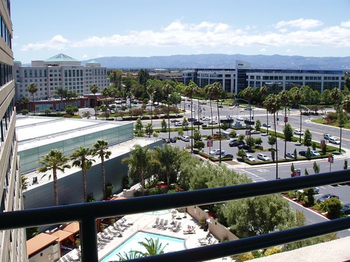 View from the Hyatt Regency, Santa Clara, CA June 2012 by suzipaw
