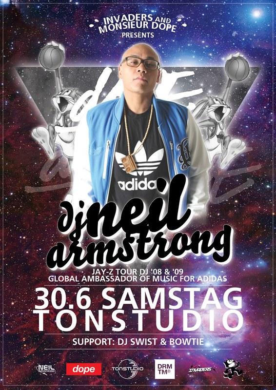 DJ Neil Armstrong 6/30 Samstag Tonstudio