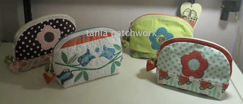 Necessaires........as florais..... by tania patchwork
