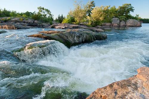 summer evening waterfall falls otonabeeriver burleighfalls