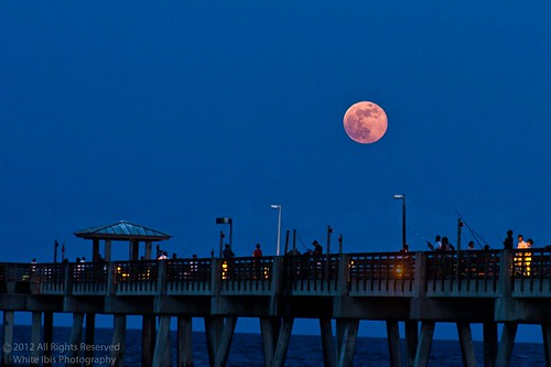 Full Moon Dania Beach Pier July 3, 2012
