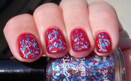 Meteorites Moonshot over China Glaze Adventure Red-Y