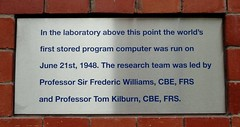 Photo of Frederic Calland Williams and Tom Kilburn brushed metal plaque