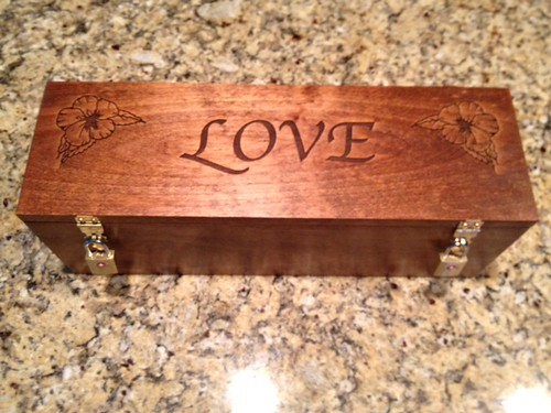 Wedding Ceremony Customized Wood Wine/Letter Box