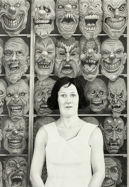 Laurie Lipton, Mask, 2008