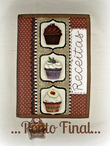 ...Capa para caderno de receitas... by Ponto Final - Patchwork