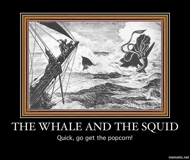WHALE AND SQUID