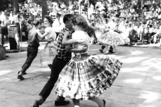 Wacana Elementary School students dancing at the 1959 Florida Folk Festival: White Springs, Florida