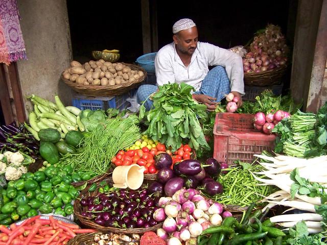 Vegetable vendors stock photos