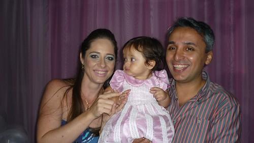 encantadora Cecilia com os pais Cleide e Euler Amaral Junior