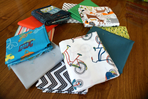Fabric Stack for Kiddo Journals (Boys)