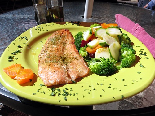 Grilled trout & veggies