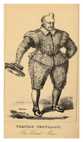 015- Francis Trovillou-el hombre cuerno-The book of wonderful characters.. 1869- Henry Wilson- © Harvard University Library