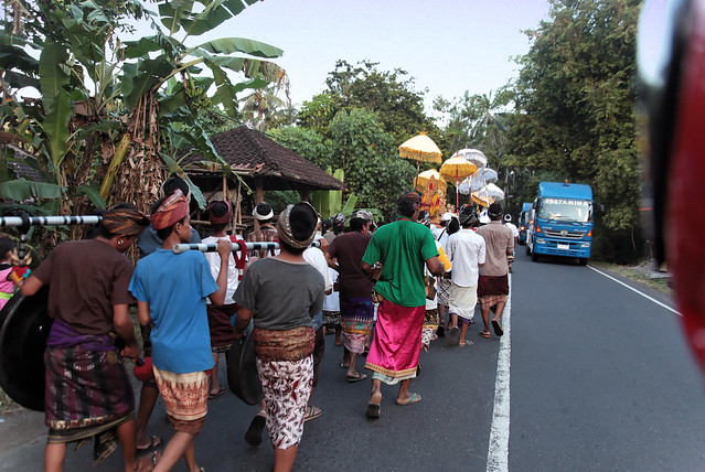 We found a procession.