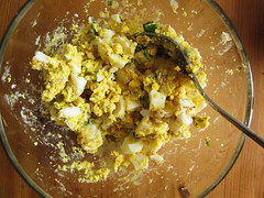 egg salad, mixed