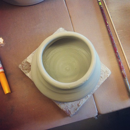 I made a (wobbly) pot