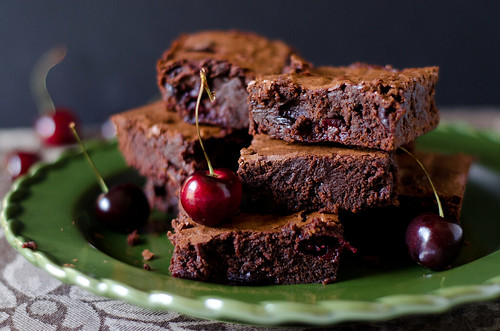 roasted cherry brownies 2