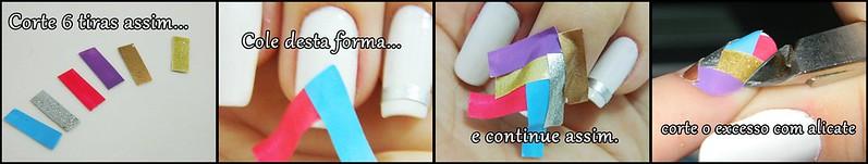 tutorial faça seu adesivo de unha sugestão 1 DIY juliana leite nail art decorada
