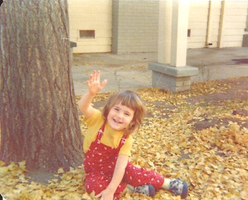 under the gingko tree about 38 yrs ago. :)