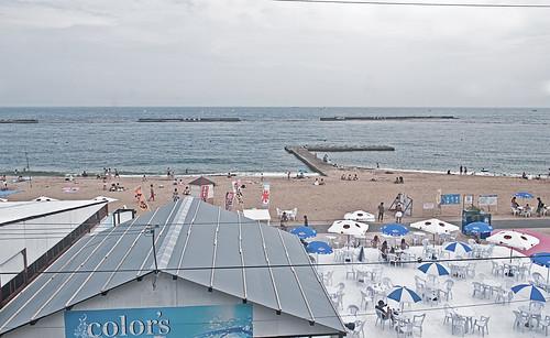Vista de la playa desde la estación