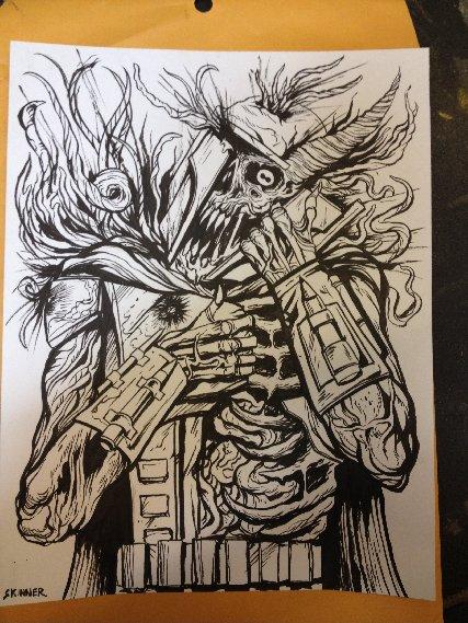 Skinner drawing for packaging