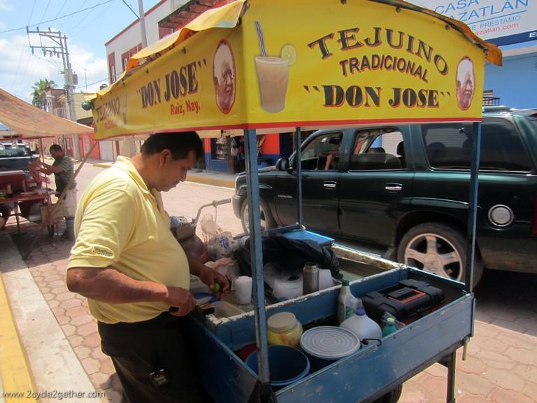 Tejuino vendor, Ruiz, Nayarit