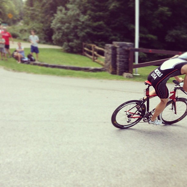Too fast for film: @triathlonbrett on bike. #latergram #vermontsun
