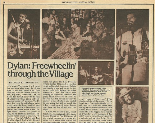 08/28/75 Rolling Stone Magazine (Dylan in NYC)(1/4)