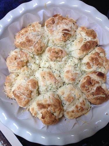 Gluten Free pull-apart Garlic Bread