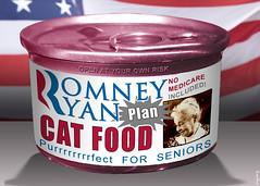 Romney Ryan Plan Cat Food by DonkeyHotey