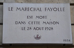 Photo of Émile Fayolle marble plaque