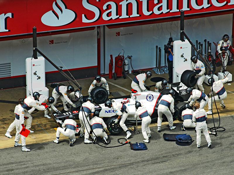 Pit Stop, Spanish Grand Prix, Circuit de Catlunya, Barcelona