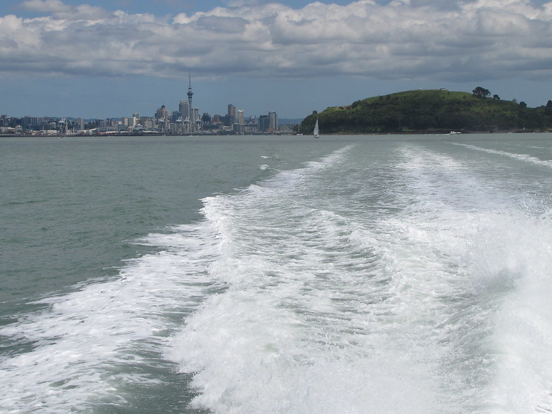 On the way to Rangitoto
