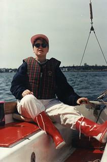 1991 Susan sailing Sooz